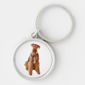 Airedale Terrier Puppy Dog Premium Keychain