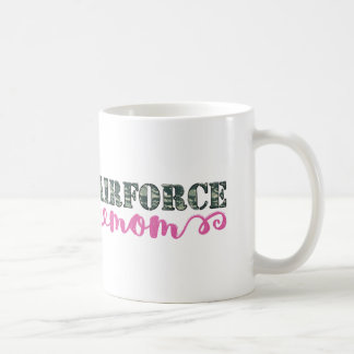 Airforce Mom Camo Basic White Mug