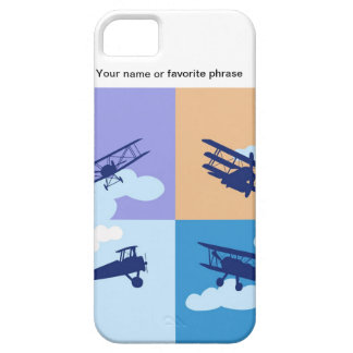Airplane collage on pastel colors. iPhone 5 covers