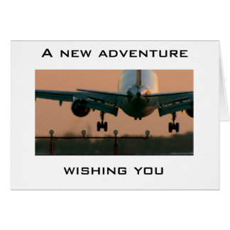 AIRPLANE TAKING OFF-CARD FOR ANY NEW ADVENTURE GREETING CARD