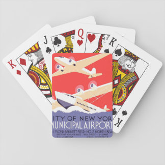 Airplanes Flying Vintage Propeller Planes Playing Cards