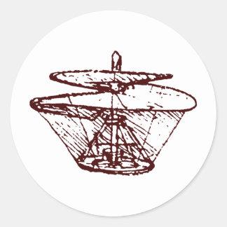airscrew classic round sticker
