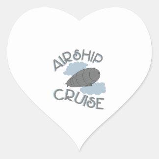 Airship Cruise Heart Sticker