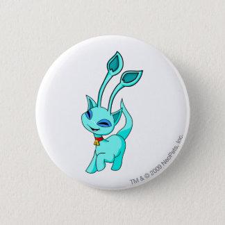 Aisha Blue 6 Cm Round Badge