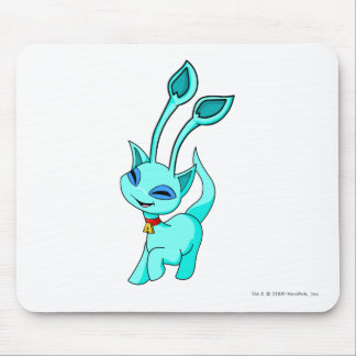 Aisha Blue Mouse Pad