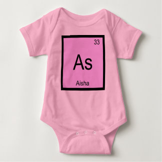 Aisha Name Chemistry Element Periodic Table Baby Bodysuit
