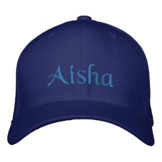 Aisha Personalized Embroidered Baseball Cap Blue