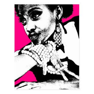 Aisha Pink Postcard