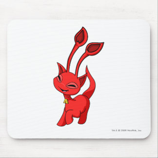 Aisha Red Mouse Pad