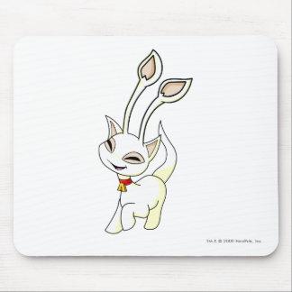Aisha White Mouse Pad