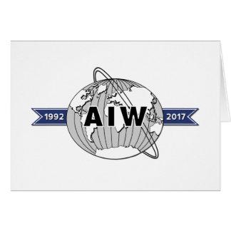 AIW 25th Anniversary Logo Blank Note Card