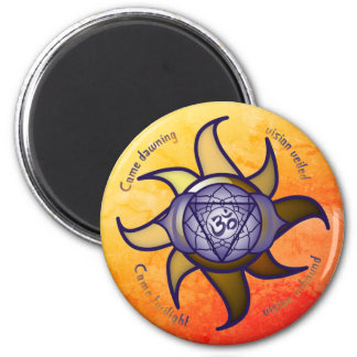 "Ajna Chakra ""Third Eye"" Yoga Insight Lotus Magnet"