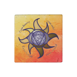 "Ajna Chakra ""Third Eye"" Yoga Insight Stone Magnet"