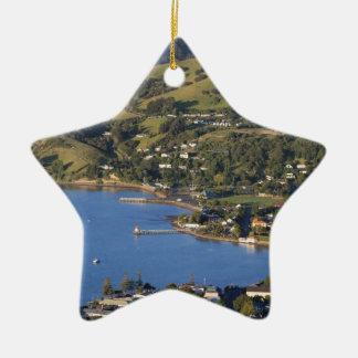 Akaroa Harbour scenic French village Christmas Ornament