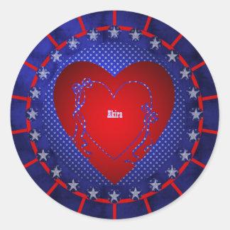 Akira Classic Round Sticker