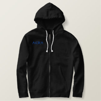 Akira Name With Japanese Meaning Black Embroidered Hoodie