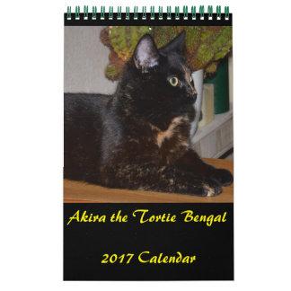 Akira the Tortie Bengal 2017 Small Calendar