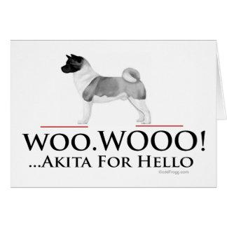 Akita Hello Greeting Card