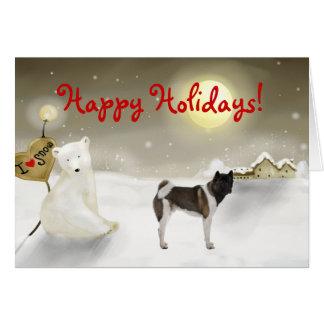 Akita Holiday Card