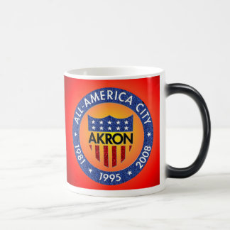 Akron All America City Mug. Magic Mug