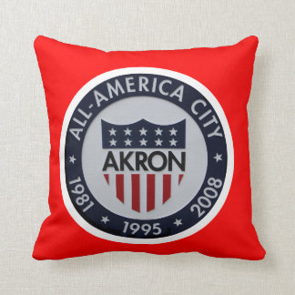 Akron All America Throw Pillow