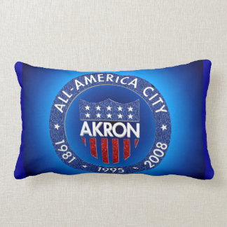 Akron All America Throw Pillow, Lumbar Pillow