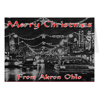 Akron Christmas Card. Card