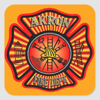 Akron Fire Department Stickers. Square Sticker