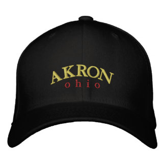 Akron Ohio Embroidered Ballcap Embroidered Baseball Cap