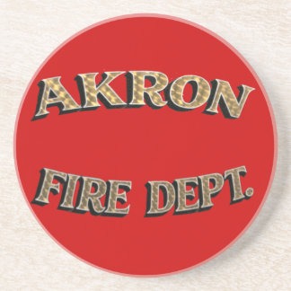 Akron Ohio Fire Department Coaster. Beverage Coasters
