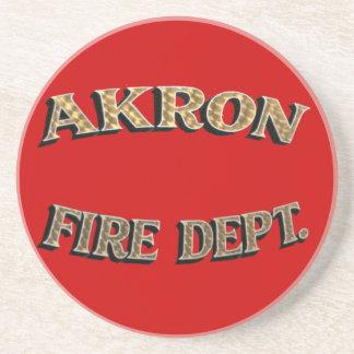 Akron Ohio Fire Department Coaster. Coaster