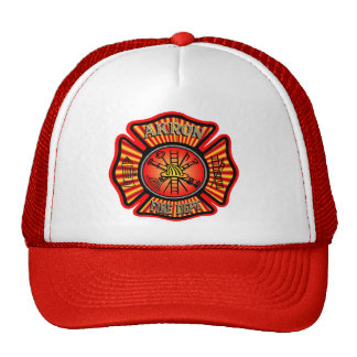 Akron Ohio  Fire Department Hat. Cap