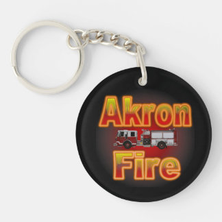 Akron Ohio Fire Department Keychain. Key Ring