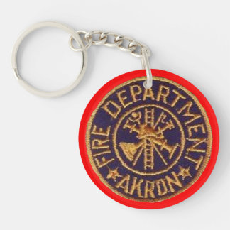 Akron Ohio Fire Department Keychain, Key Ring