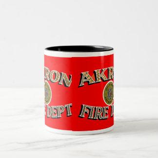 Akron Ohio Fire Department Mug. Two-Tone Coffee Mug