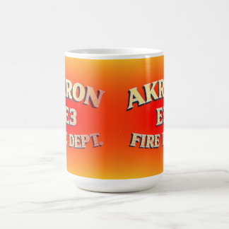 Akron Ohio Fire Department Mugs. Coffee Mug