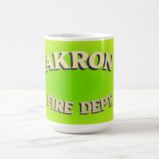 Akron Ohio Fire Department Mugs. Coffee Mug