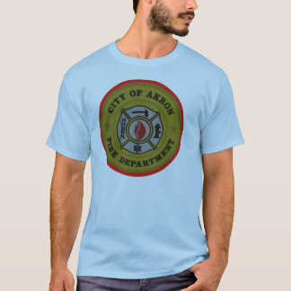 Akron Ohio Fire Department Shirt. T-Shirt