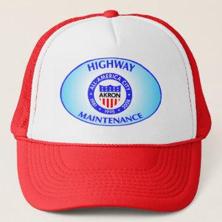 Akron Ohio Highway Maintenance Hat. Trucker Hat