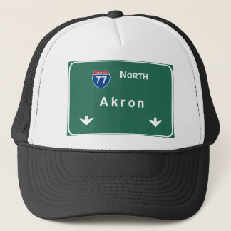 Akron Ohio oh Interstate Highway Freeway : Trucker Hat