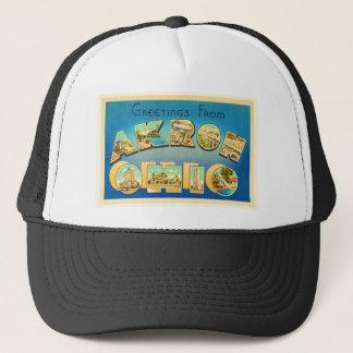 Akron Ohio OH Old Vintage Travel Souvenir Trucker Hat