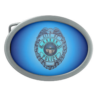 Akron Ohio Police Department Belt Buckle. Oval Belt Buckles