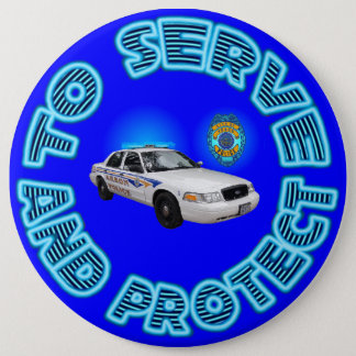 Akron Ohio Police Department Button. 6 Cm Round Badge