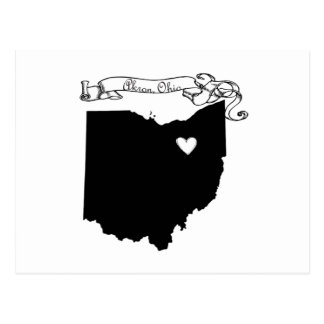 Akron Ohio Postcard
