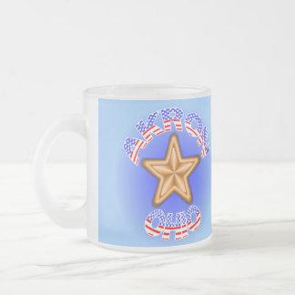Akron Ohio Star Frosted Glass Coffee Mug