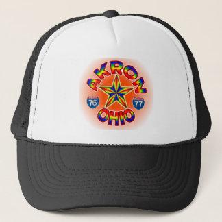 Akron Ohio Star Hat. Trucker Hat