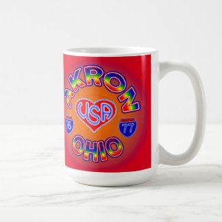 Akron Ohio Star Mug. Coffee Mug