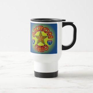 Akron Ohio Star Mug. Travel Mug