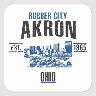 Akron Square Sticker