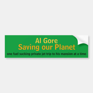 Al Gore, Saving our Planet Bumper Sticker